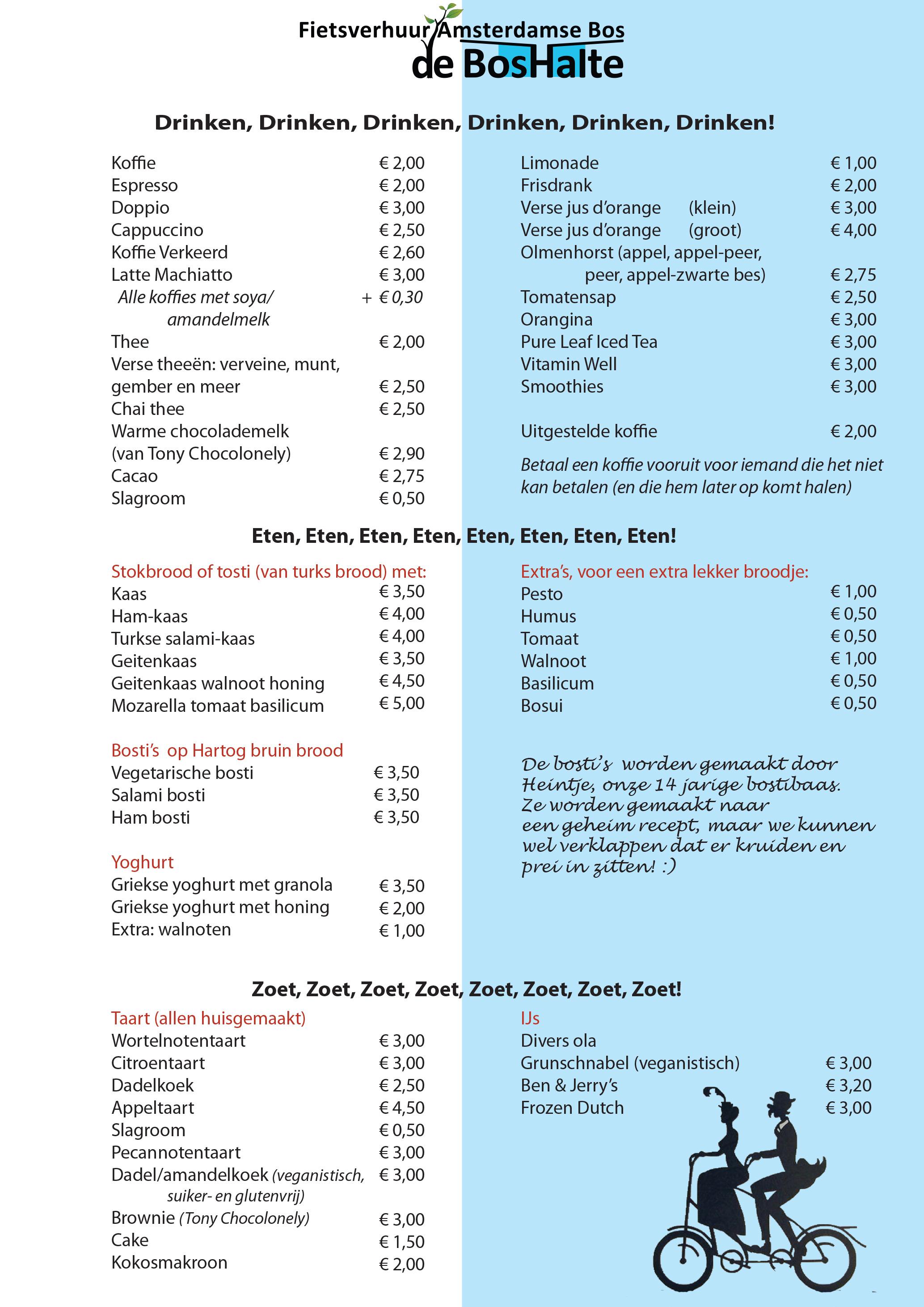 de Bos Halte menu